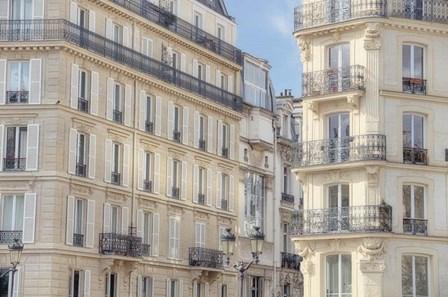 Paris Apartement Buildings by Cora Niele art print