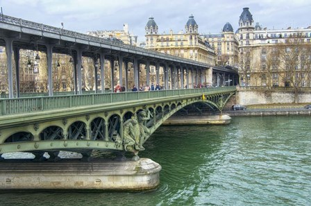 Pont de Bir Hakeim And Seine by Cora Niele art print