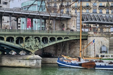 Pont de Bir Hakeim With Boat by Cora Niele art print