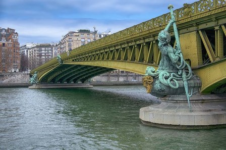Pont Mirabeau Spans The Seine River by Cora Niele art print