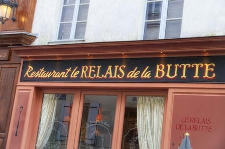 Relais de la Butte Restaurant by Cora Niele art print