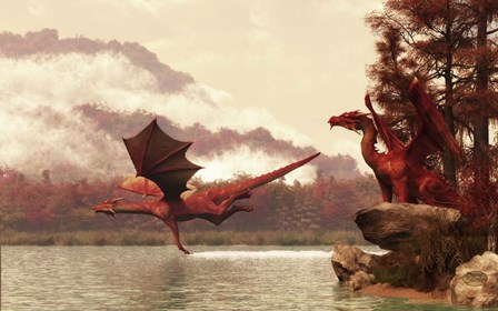 Autumn Dragons by Daniel Eskridge art print