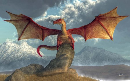 Fire Dragon by Daniel Eskridge art print