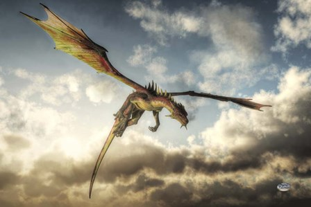 Flying Dragon Death From Above by Daniel Eskridge art print
