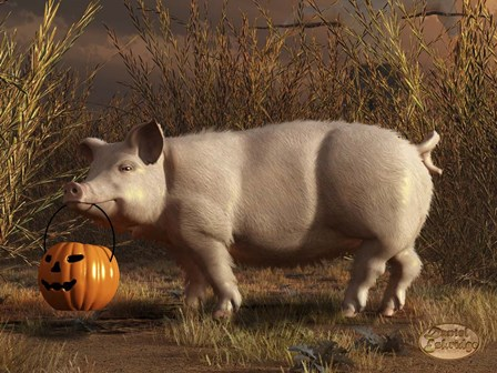 Halloween Pig by Daniel Eskridge art print