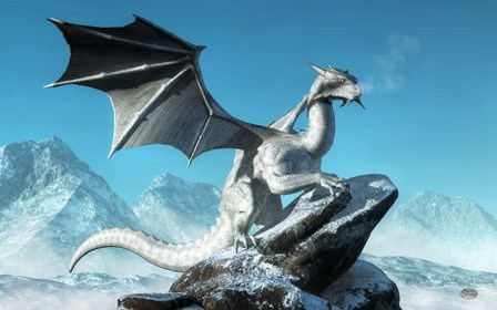 Winter Dragon by Daniel Eskridge art print