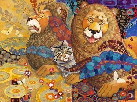 Leonine Tapestry by David Galchutt art print