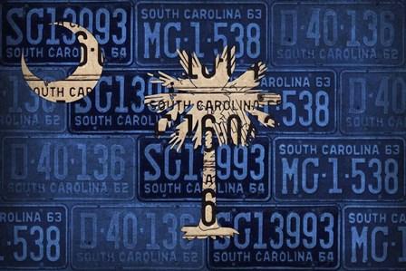 South Carolina State Flag by Design Turnpike art print