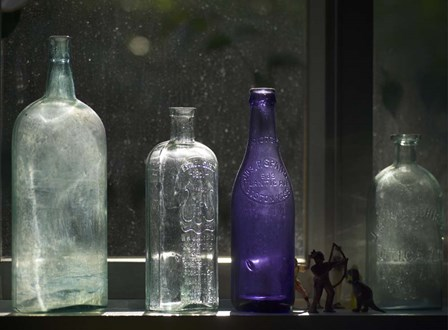 Still Life With Bottles And Found Figurines by Geoffrey Ansel Agrons art print