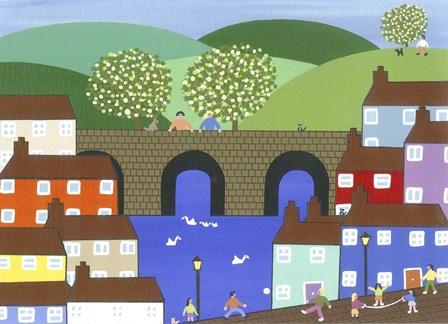 Harbor Town by Gordon Barker art print