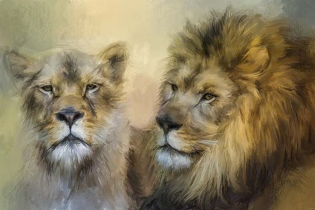 The Lion and His Lioness by Jai Johnson art print