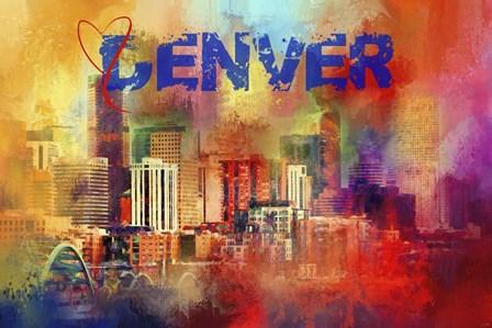 Sending Love To Denver by Jai Johnson art print