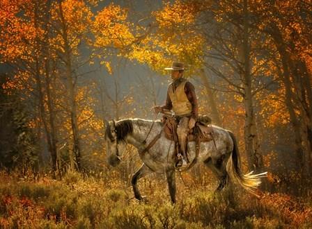 Mustang Fall by JL Grief Fine Art Photography art print