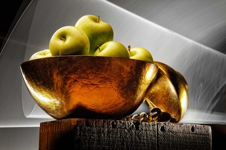 Apple In A Gold Bowl by Joe Felzman Photography art print