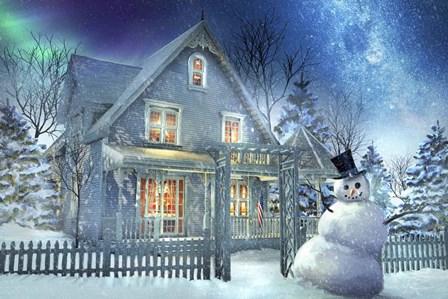 A Happy Snowman by Joel Christopher Payne art print