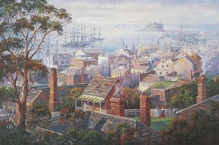 Harbourside Mosaic by John Bradley art print