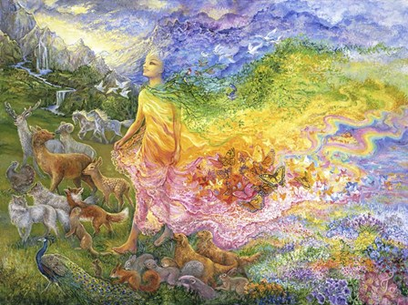 The Gladness Of Gaia by Josephine Wall art print