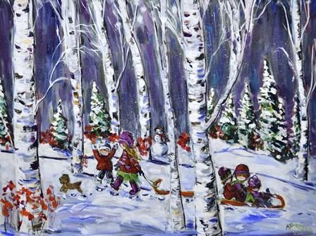 Beautiful Winter by Katerina Mertikas art print