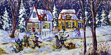 Childhood Friends by Katerina Mertikas art print