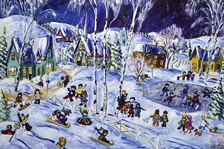Holy Winter Fun by Katerina Mertikas art print