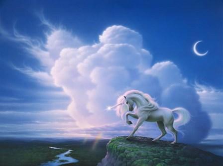 Rainbow Unicorn by Kirk Reinert art print