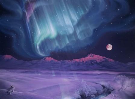 Snowfield Illumination by Kirk Reinert art print