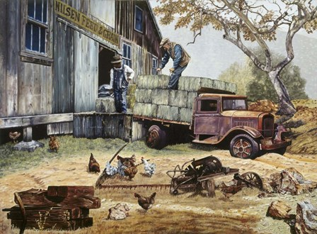 The Feed Store Patrons by Les Ray art print