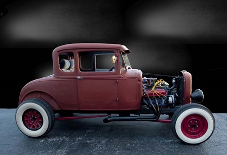 30' Model A Ford Coupe by Lori Hutchison art print