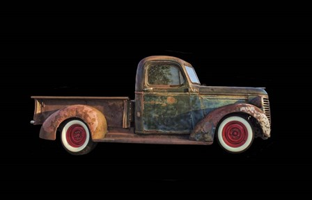 Old Rusted Pickup by Lori Hutchison art print