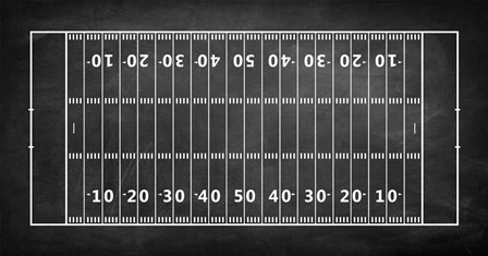American Football Field Chalkboard by Sports Mania art print