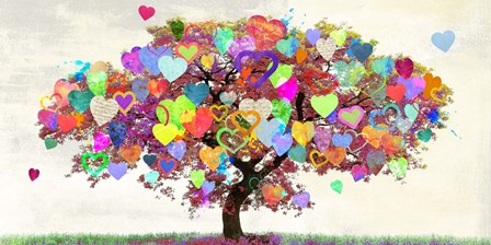 Tree of Love by Malia Rodrigues art print