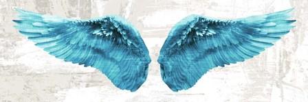 Angel Wings (Aqua) by Joannoo art print