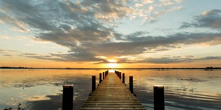 Morning Lights on a Jetty (detail) by Pangea Images art print