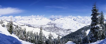 Ski Slopes in Sun Valley, Idaho by Panoramic Images art print