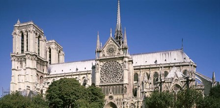 View of the Notre Dame, Paris, Ile-De-France, France by Panoramic Images art print