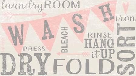 Vintage Laundry Room by Katie Doucette art print