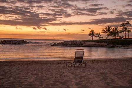 Sunset on The Beach by Ramona Murdock art print
