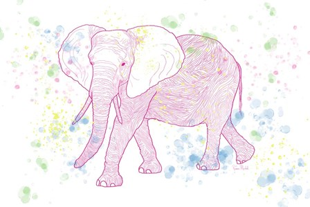 Happy Mama Elephant by Ramona Murdock art print