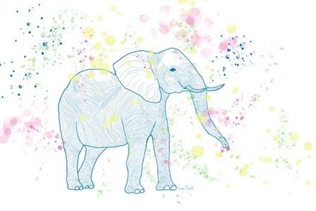 Happy Elephant II by Ramona Murdock art print