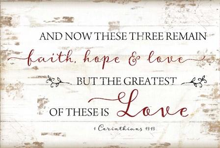 1 Corinthians 13:13 by Jennifer Pugh art print