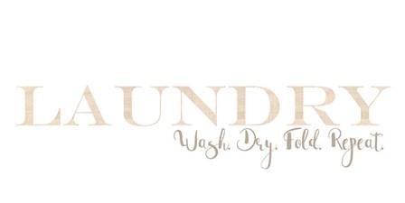 Laundry Burlap Reverse by Pamela J. Wingard art print