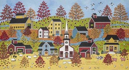 When Autumn Leaves Start To Fall by Medana Gabbard art print