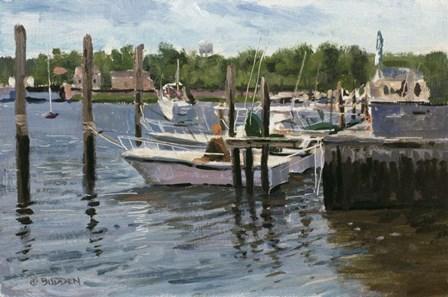 Manasquan Boats by Michael Budden art print