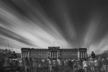 Buckingham Palace S1 BW by Moises Levy art print