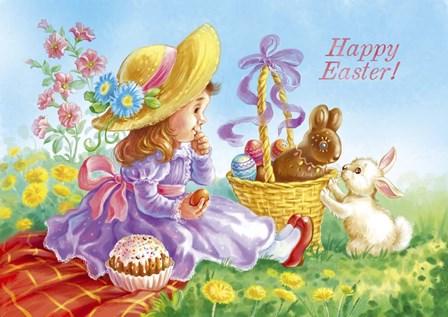 Happy Easter by Olga Kovaleva art print