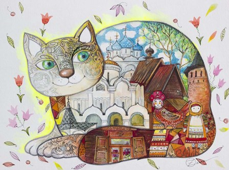 Russian Suzdal by Oxana Zaika art print