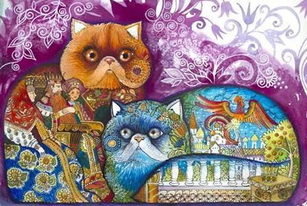 Pushkin Tales 3 by Oxana Zaika art print