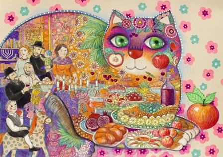 Rosh Hashanah by Oxana Zaika art print