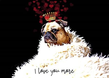 Pug Love by Tina Lavoie art print
