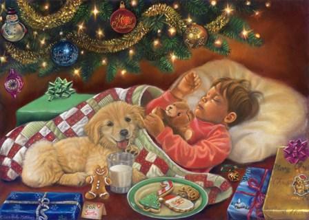Christmas Eve Dreams by Tricia Reilly-Matthews art print